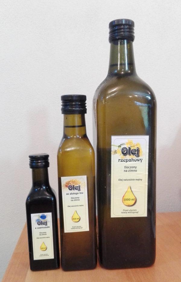 Rostlinné oleje - rozměry